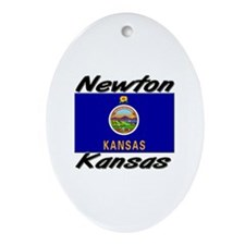 Newton Kansas Oval Ornament