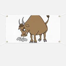 Funny Angry Bull Comic Banner