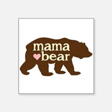 "Cute Mama bear Square Sticker 3"" x 3"""