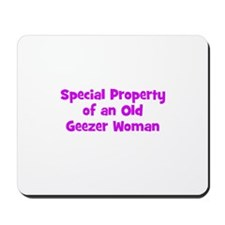Special Property of an Old Ge Mousepad