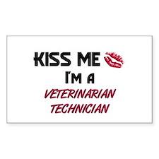 Kiss Me I'm a VETERINARIAN TECHNICIAN Decal