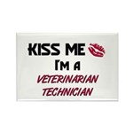 Kiss Me I'm a VETERINARIAN TECHNICIAN Rectangle Ma