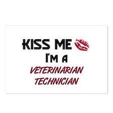 Kiss Me I'm a VETERINARIAN TECHNICIAN Postcards (P