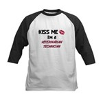 Kiss Me I'm a VETERINARIAN TECHNICIAN Kids Basebal