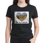 LOVE MY 4 WHEELER Women's Dark T-Shirt