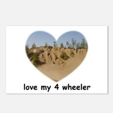 LOVE MY 4 WHEELER Postcards (Package of 8)