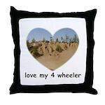 LOVE MY 4 WHEELER Throw Pillow
