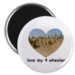 LOVE MY 4 WHEELER Magnet