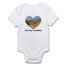 LOVE MY 4 WHEELER Infant Bodysuit