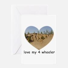 LOVE MY 4 WHEELER Greeting Card