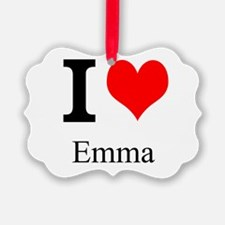 I Love Emma Ornament