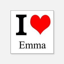 "I Love Emma Square Sticker 3"" x 3"""