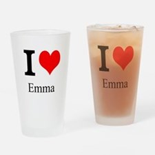 I Love Emma Drinking Glass