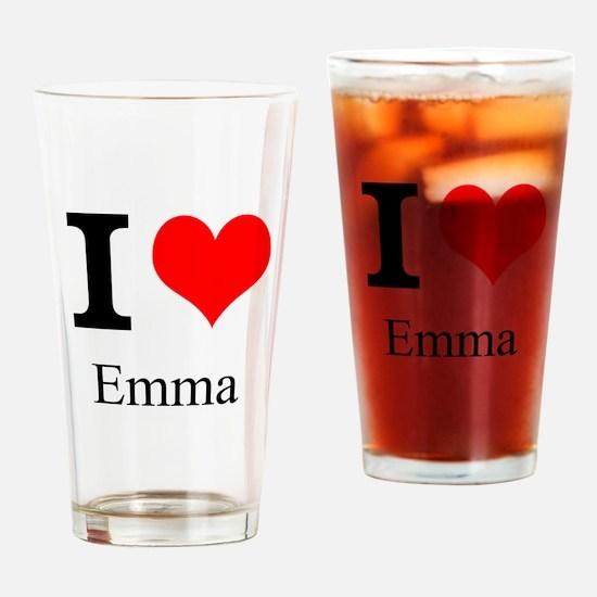 I Love Emma Drinking Glass
