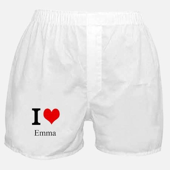 I Love Emma Boxer Shorts
