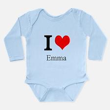 I Love Emma Long Sleeve Infant Bodysuit