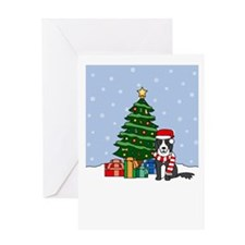 Border Collie Holiday Greeting Card