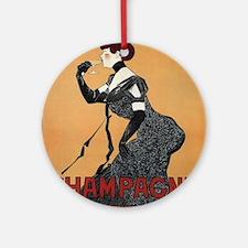 Vintage poster - Champagne De Roche Round Ornament