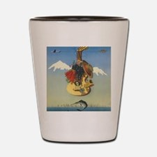 Cute Andes mountains Shot Glass