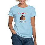 I Love Books Women's Light T-Shirt