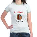 I Love Books Jr. Ringer T-Shirt