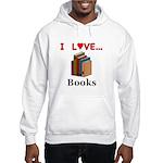 I Love Books Hooded Sweatshirt