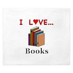 I Love Books King Duvet