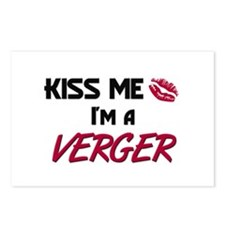 Kiss Me I'm a VERGER Postcards (Package of 8)