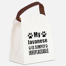 My Javanese cat is simply irrepla Canvas Lunch Bag