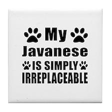 My Javanese cat is simply irreplaceab Tile Coaster