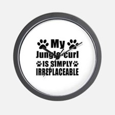 My Jungle-curl cat is simply irreplacea Wall Clock