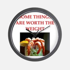 shrimp cocktail Wall Clock