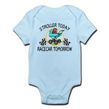 Stroller Today Racecar Tomorrow Infant Bodysuit