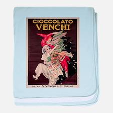 Vintage poster - Cioccolato Venchi baby blanket