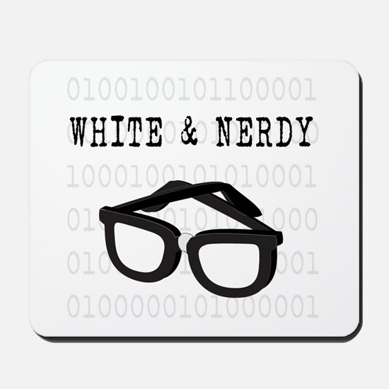 White & Nerdy Mousepad