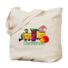 Train 1st Christmas Tote Bag