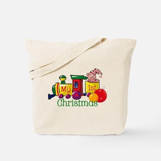 Train 1st Christmas Tote Bag