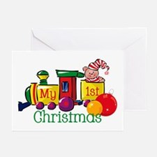 Train 1st Christmas Greeting Cards (Pk of 10)
