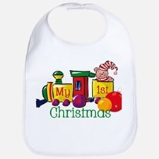 Train 1st Christmas Bib