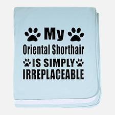 My Oriental Shorthair cat is simply i baby blanket