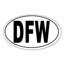 Dallas-Ft. Worth Int'l Airport Oval Decal
