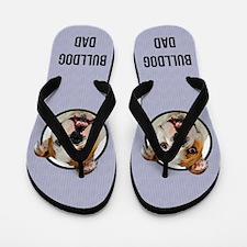 Bulldog Dad Flip Flops