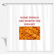 cheese crackers Shower Curtain