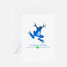 leapyearkid.jpg Greeting Cards