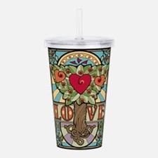 Love Grows Acrylic Double-wall Tumbler