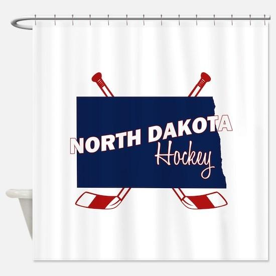 North Dakota Hockey Shower Curtain