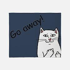 Naughty Cat Throw Blanket