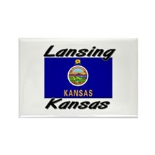 Lansing Kansas Rectangle Magnet