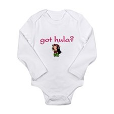 Unique Hula girls Long Sleeve Infant Bodysuit