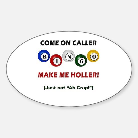 Cute Bingo Sticker (Oval)
